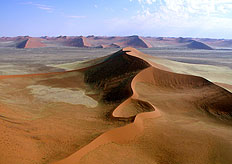 Some of the highest sand dunes in the world - best viewed from above